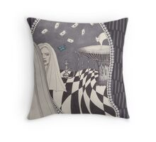 Looking Glass Alice Throw Pillow