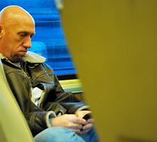 Texting: Hey that dude's taking my pix by Jeff Stroud