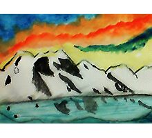 This may warm your heart on a cold night, watercolor Photographic Print