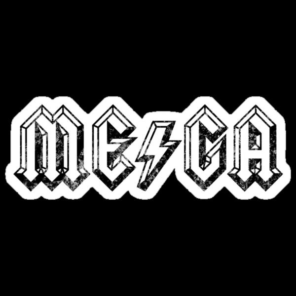 Megatrip ME-GA logo (light shirt version) by Megatrip