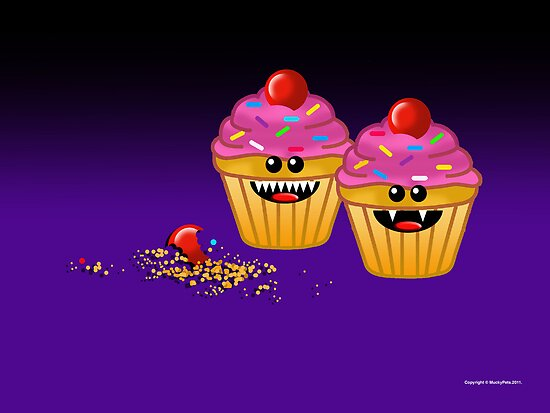 CUPCAKE CANNIBALS ART by peter chebatte
