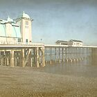 Penarth Pier faded with time by cofiant
