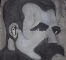 nietzsche watercolor by visceralrevolt