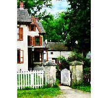 Victorian Home with Open Gate Photographic Print