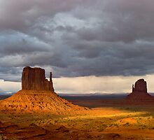 Monument Valley Mittens by Ken  Hurst