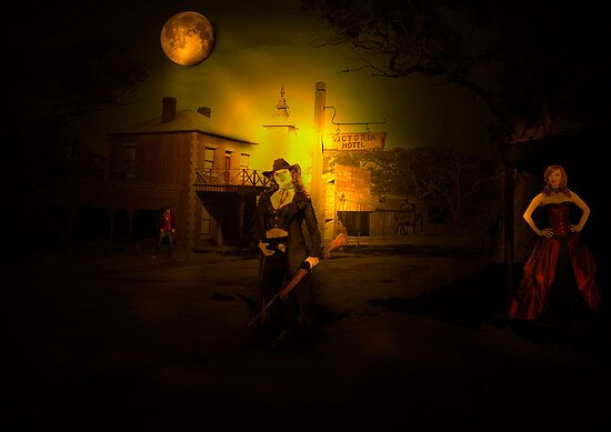 Show Down on a full moon by Andrew (ark photograhy art)