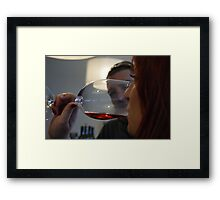 Wine tasting... Framed Print