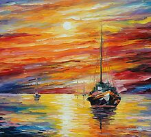 ALMOST MORNING - LEONID AFREMOV by Leonid  Afremov