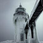 Winter Lighthouse at St. Joseph, Michigan by Chad Ely