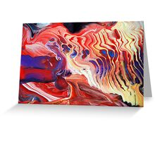 Flowing Acrylic Colours Greeting Card