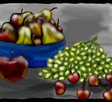 Fruit in B&W by Sherry Cornett