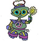 Too Cute Robot Flower by JSYandow