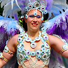 Feathers & Pearls - Nottinghill Carnival  by Victoria limerick