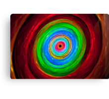 Rabbit hole - colorful light painting physiogram Canvas Print