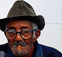 Old Cuban man & cigar, Trinidad, Cuba by buttonpresser