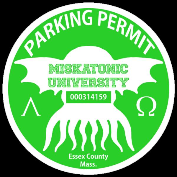 Miskatonic University Parking Permit by Hedrin