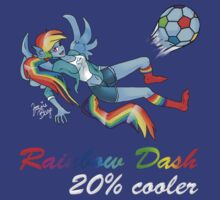 20% Cooler, Rainbow Dash Playing Soccer T-Shirt