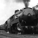 Historic 3801 Train by Michael John