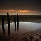 Posts At Sunset by Brian Kerr