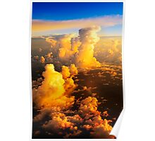 Sea of fluffy white clouds Poster