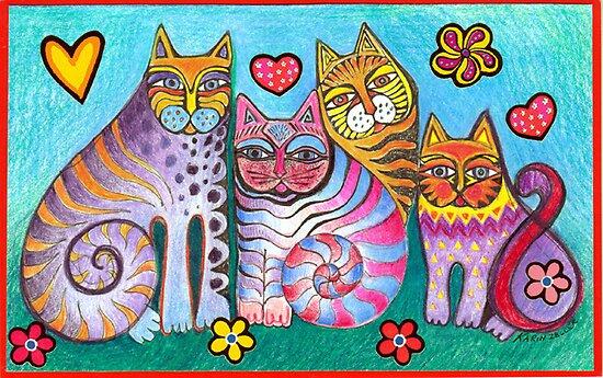 Fanciful fantasy felines by Karin Zeller