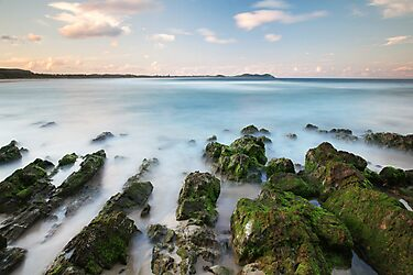 Rocks revealed at Broken Head, NSW by Dave Ellem