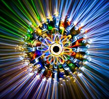 A flower, painted with light by Alexandr Gnezdilov