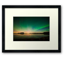 Northern Lights - Elk Island National Park (Edmonton, AB Canada) Framed Print