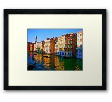 Venice - Central Canal Framed Print