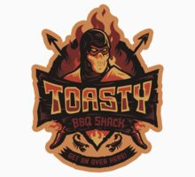 Toasty BBQ Shack - STICKER by WinterArtwork