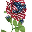 .* Stars &amp; Stripes Rose For 9-11 In Rememberance.* by  Bonita Lalonde
