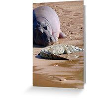 FRIENDS FOR......EVER, WITH MY SIZE... YES! - the Hippo's and the Crocodiles Greeting Card