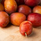 Fresh Plums by Charlotte Lake