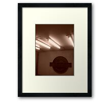 Marble Arch tube station Framed Print
