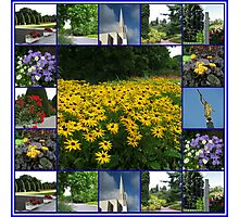 The Garden of the Lord - Floral Collage Photographic Print