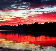 9-7-11 Lake Ozonia Sunset by Brian Pelkey