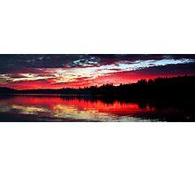 9-7-11 Lake Ozonia Sunset Photographic Print