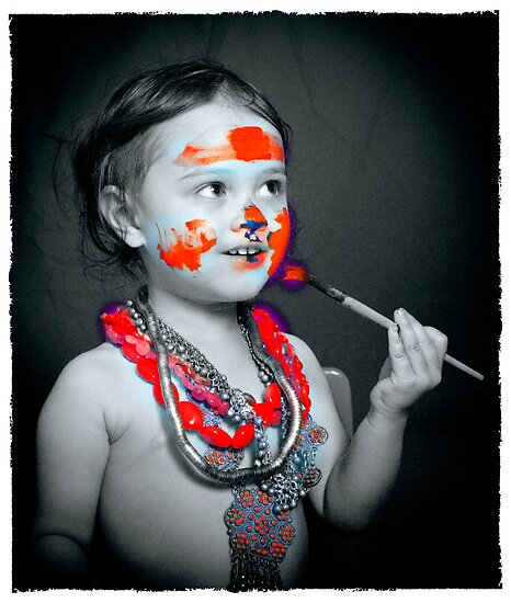 Facepaint 14 red by Samantha Van Stralendorff