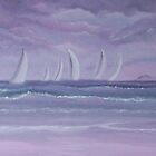 Sailing at twilight by Holly Martinson