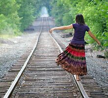 Playing on the rails by Julian Velez