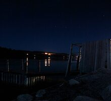 Brisk Night - Peggy's Cove Road, Nova Scotia by Caites