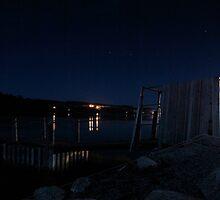Brisk Night - Peggy's Cove Road, Nova Scotia by Caites