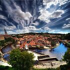 Cesky Krumlov panorama by Stevacek