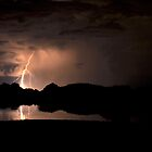 Lightning Over Willow Lake by Diana Graves Photography