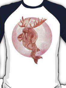 The Space Walrus On Moon Patrol. T-Shirt