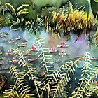 Ostrich Ferns and Lily Pads 2 by Cal Kimola Brown