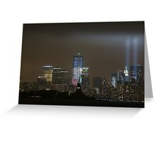 new york city tribute in light; 9/11/2011 Greeting Card