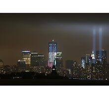 new york city tribute in light; 9/11/2011 Photographic Print