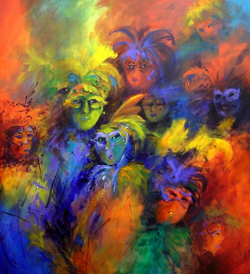 Explosion of masks by Ivana Pinaffo