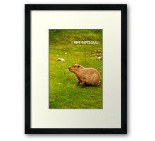 I love capybaras! Framed Print
